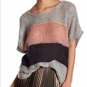 WILDFOX  Estate Stripe color block Sweater M